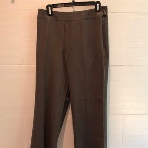 Flat front, side zip trousers